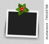 photo frame with christmas... | Shutterstock .eps vector #740105788