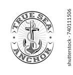white on black vector true sea... | Shutterstock .eps vector #740111506