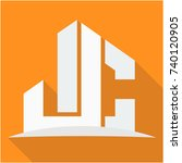 icon logo for the construction... | Shutterstock .eps vector #740120905