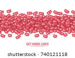 vector 3d social network like... | Shutterstock .eps vector #740121118
