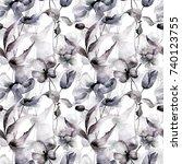 floral seamless pattern ... | Shutterstock . vector #740123755
