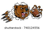 a bear angry animal sports... | Shutterstock .eps vector #740124556