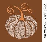 halloween vector pumpkin | Shutterstock .eps vector #740127232