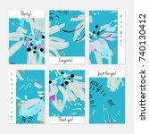 hand drawn creative universal... | Shutterstock .eps vector #740130412