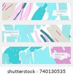 hand drawn creative universal... | Shutterstock .eps vector #740130535