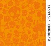 halloween pattern   abstract...   Shutterstock .eps vector #740137768
