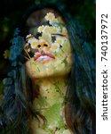 feminine aspects of nature...   Shutterstock . vector #740137972