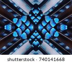 abstract symmetric pattern of... | Shutterstock . vector #740141668