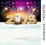 happy new year background with... | Shutterstock .eps vector #740146702