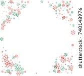 rounded christmas border or... | Shutterstock .eps vector #740148976