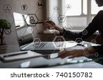 business structure diagram ... | Shutterstock . vector #740150782