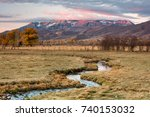 winding stream in rural heber... | Shutterstock . vector #740153032