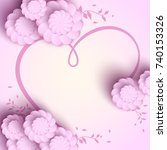 pink background design with... | Shutterstock . vector #740153326