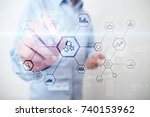 iot and automation concept as... | Shutterstock . vector #740153962