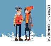 lovely flat design illustration ... | Shutterstock .eps vector #740156395