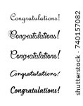 congratulations lettering.... | Shutterstock .eps vector #740157082