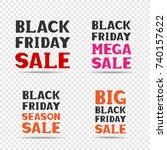 red pink orange and black big... | Shutterstock .eps vector #740157622