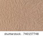 crumpled paper texture | Shutterstock .eps vector #740157748