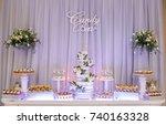 variety of tasty desserts | Shutterstock . vector #740163328