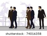 business people group | Shutterstock .eps vector #74016358