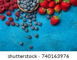 berries assorted mix of...   Shutterstock . vector #740163976