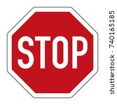stop and give way   regulatory... | Shutterstock .eps vector #740165185