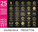 great luxury set  royal and... | Shutterstock .eps vector #740167726
