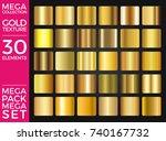 vector set of gold gradients ... | Shutterstock .eps vector #740167732