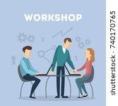 workshop concept illustration.... | Shutterstock .eps vector #740170765