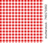 red and white gingham... | Shutterstock .eps vector #740171002