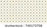 thai ancient pattern. vintage...   Shutterstock .eps vector #740173708
