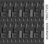 vector modern city | Shutterstock .eps vector #740177155
