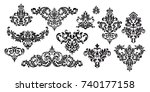 set of oriental vector damask... | Shutterstock .eps vector #740177158