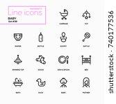 maternity concept   line design ... | Shutterstock .eps vector #740177536