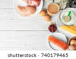 composition with high protein...   Shutterstock . vector #740179465