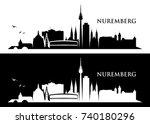 nuremberg skyline   germany  ...   Shutterstock .eps vector #740180296