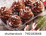 Chocolate Peppermint Cupcakes...