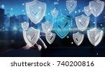 businessman on blurred... | Shutterstock . vector #740200816