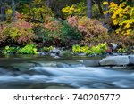 North Yuba River On An Autumn...