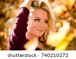 Closeup Portrait Of Young Woman ...