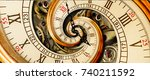 Antique Old Clock Abstract...