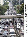 sao paulo  brazil  october 23 ... | Shutterstock . vector #740217076