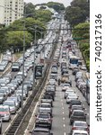 sao paulo  brazil  october 23 ... | Shutterstock . vector #740217136