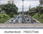 sao paulo  brazil  october 23 ... | Shutterstock . vector #740217166