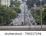 sao paulo  brazil  october 23 ... | Shutterstock . vector #740217196
