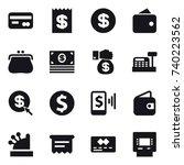 16 vector icon set   card ...   Shutterstock .eps vector #740223562