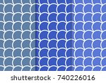 set of geometric ornaments.... | Shutterstock .eps vector #740226016