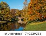 latvia. the park in riga. the... | Shutterstock . vector #740229286
