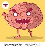 brain zombie vector... | Shutterstock .eps vector #740239738