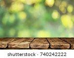 wooden table background | Shutterstock . vector #740242222